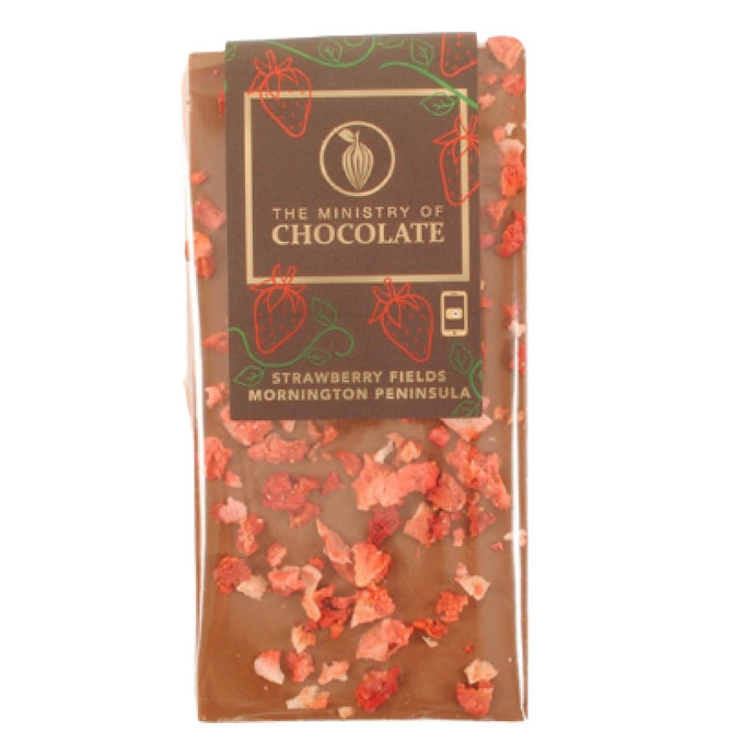 STRAWBERRY FIELDS 100g MILK CHOCOLATE | ADD ON