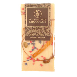 SWEET BOUQUET WHITE CHOCOLATE BAR 100g | ADD ON