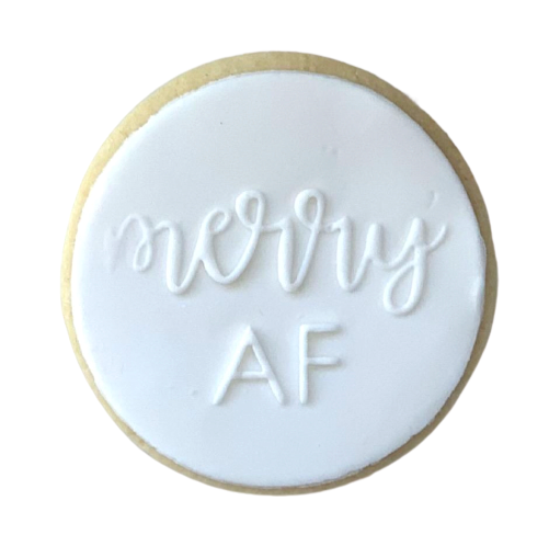 'MERRY AF' SUGAR COOKIE | ADD ON