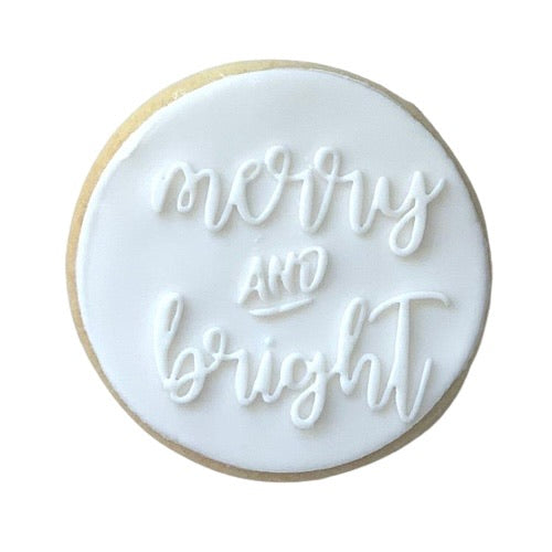 'MERRY AND BRIGHT' XMAS SUGAR COOKIE | ADD ON