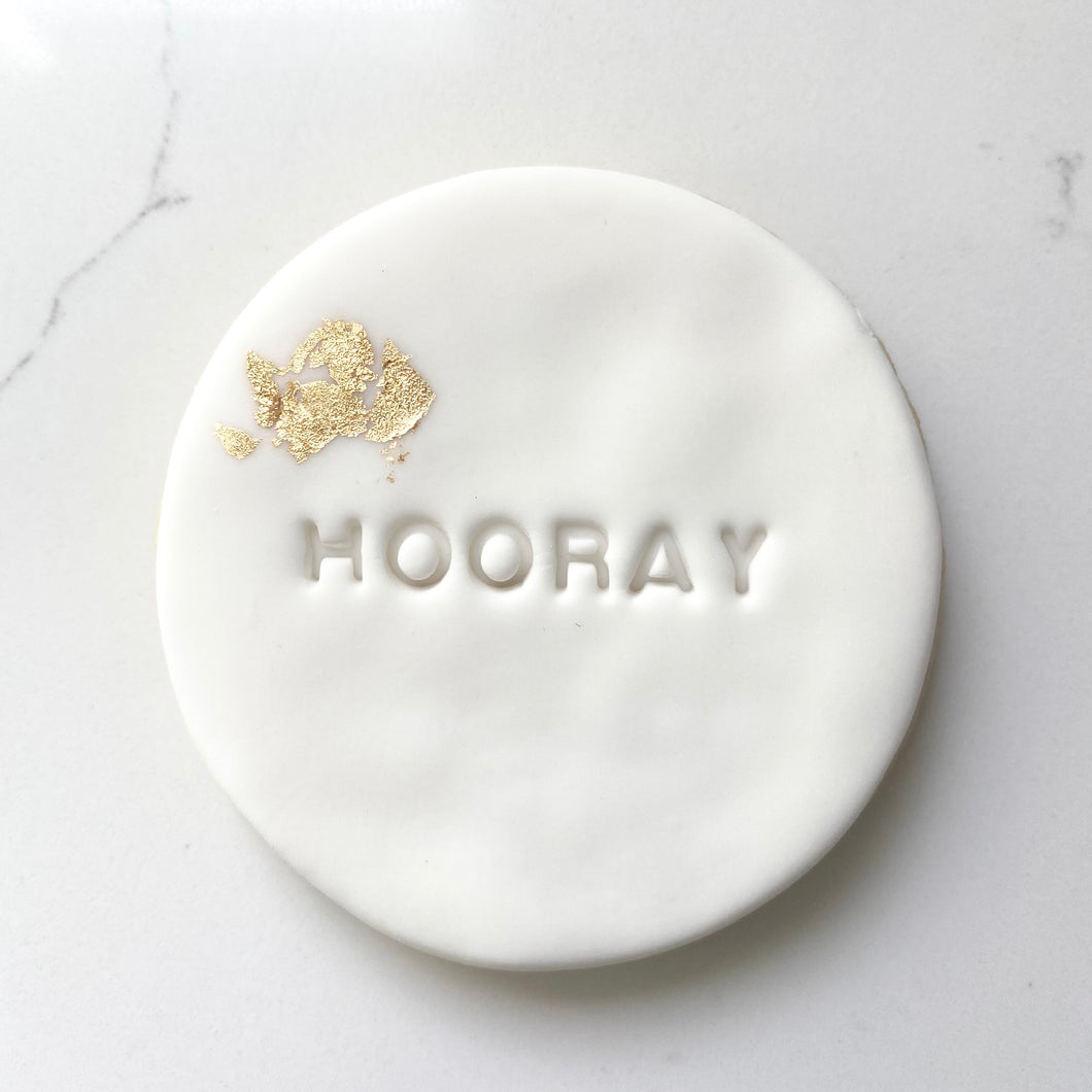 'HOORAY' SUGAR COOKIE + GOLD LEAF | ADD ON