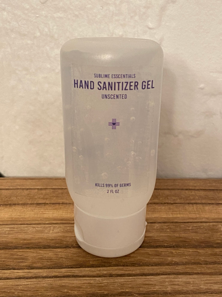 Sublime Esscentials 2.5oz Unscented Gel Hand Sanitizer