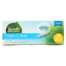 Load image into Gallery viewer, Seventh Generation Tampons - Applicator Free Regular - 20 Ct - Case Of 12
