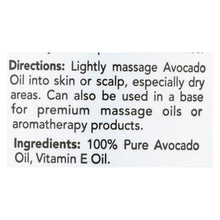 Load image into Gallery viewer, Hobe Labs Hobe Naturals Avocado Oil - 4 Fl Oz