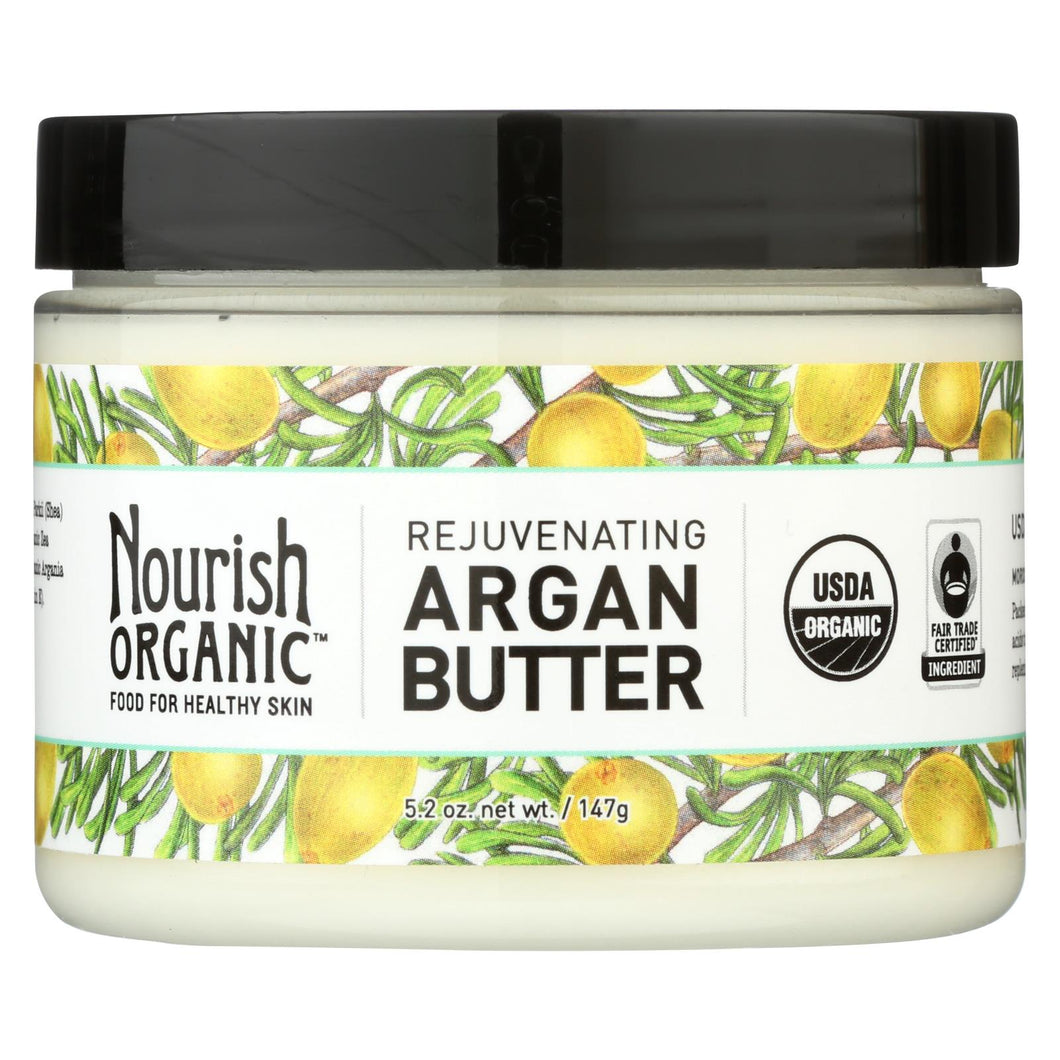 Nourish Argan Butter - Organic - Rejuvenating - 5.2 Oz - 1 Each