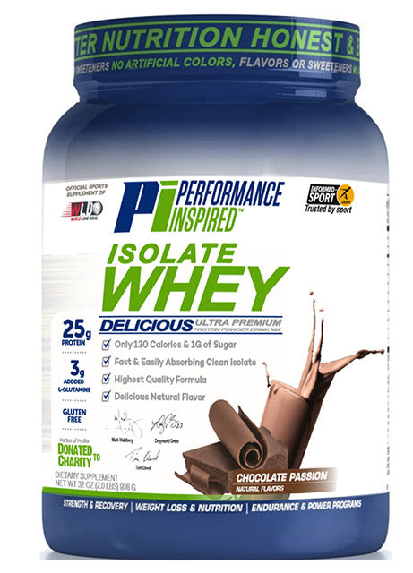 PERFORMANCE INSPIRED NUTRITION - Hydro ISO Whey Chocolate , 36.8 Oz
