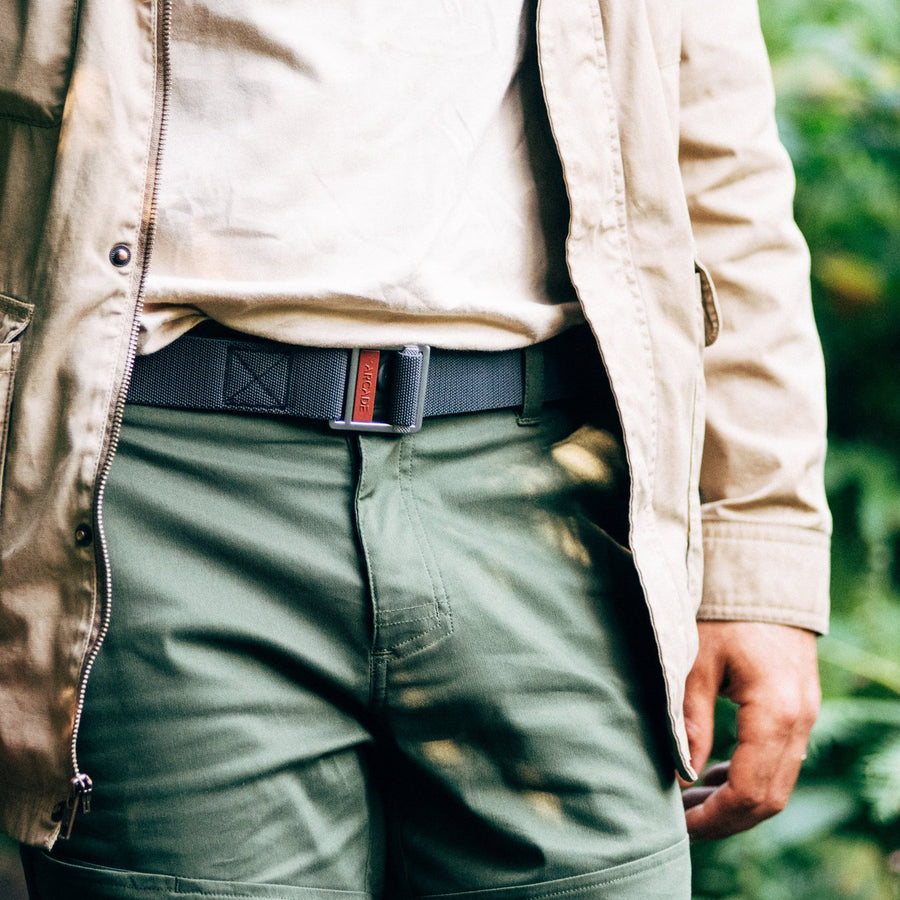 Arcade Guide Belt | Charcoal Vermilion