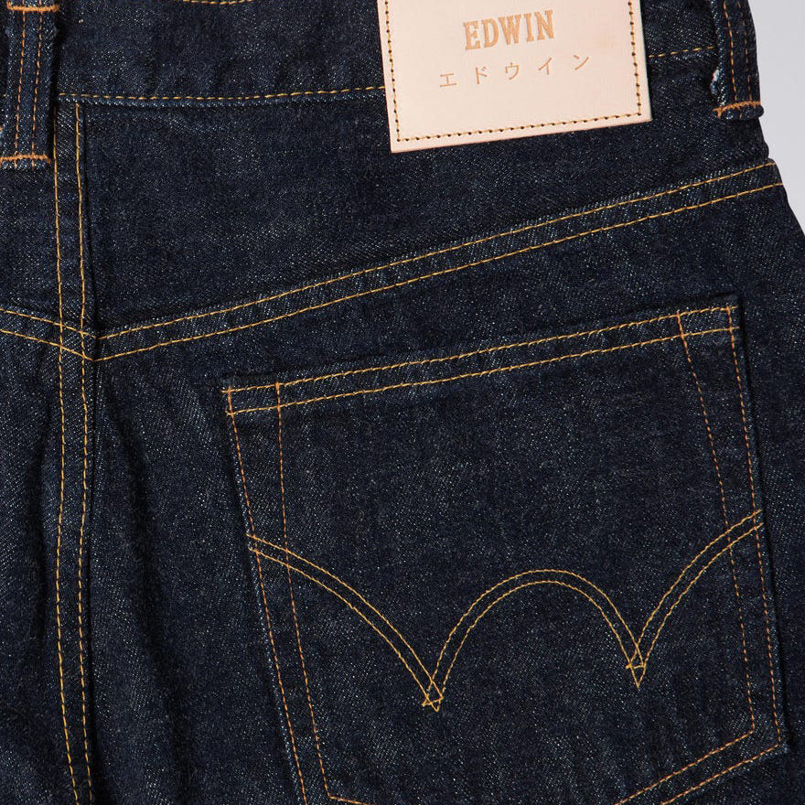 Edwin Loose Straight Nihon Menpu Jeans | Dark Pure Indigo Blue Rinsed