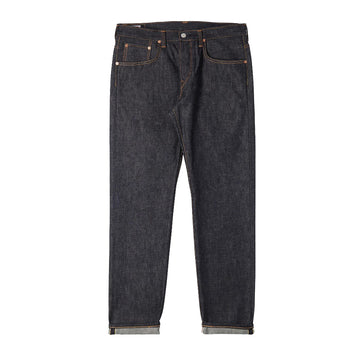 Edwin Regular Tapered Nihon Menpu Raw State Jeans | Dark Pure Indigo Blue
