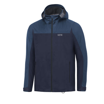 Gore Wear Gore-Tex Active Hooded Jacket | Orbit Blue / Deepwater Blue