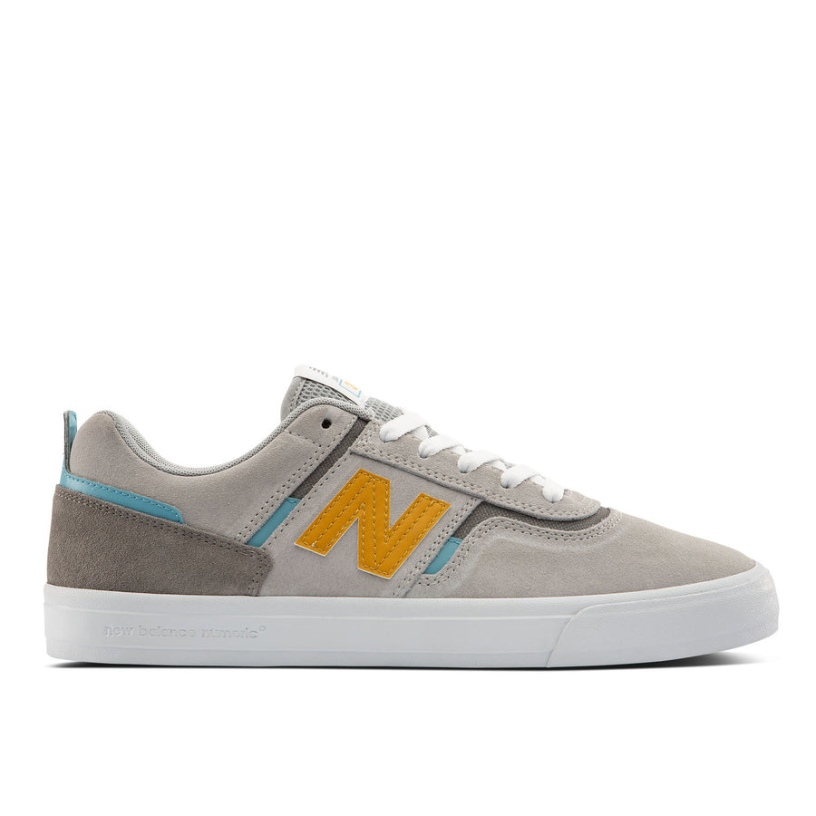 New Balance Numeric 306 Jamie Foy Shoes | Grey / Yellow / Blue