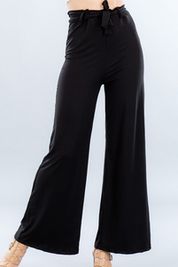 Wide-Leg Pants - Black