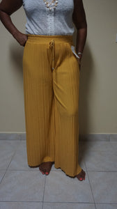 Yellow Flared Pants