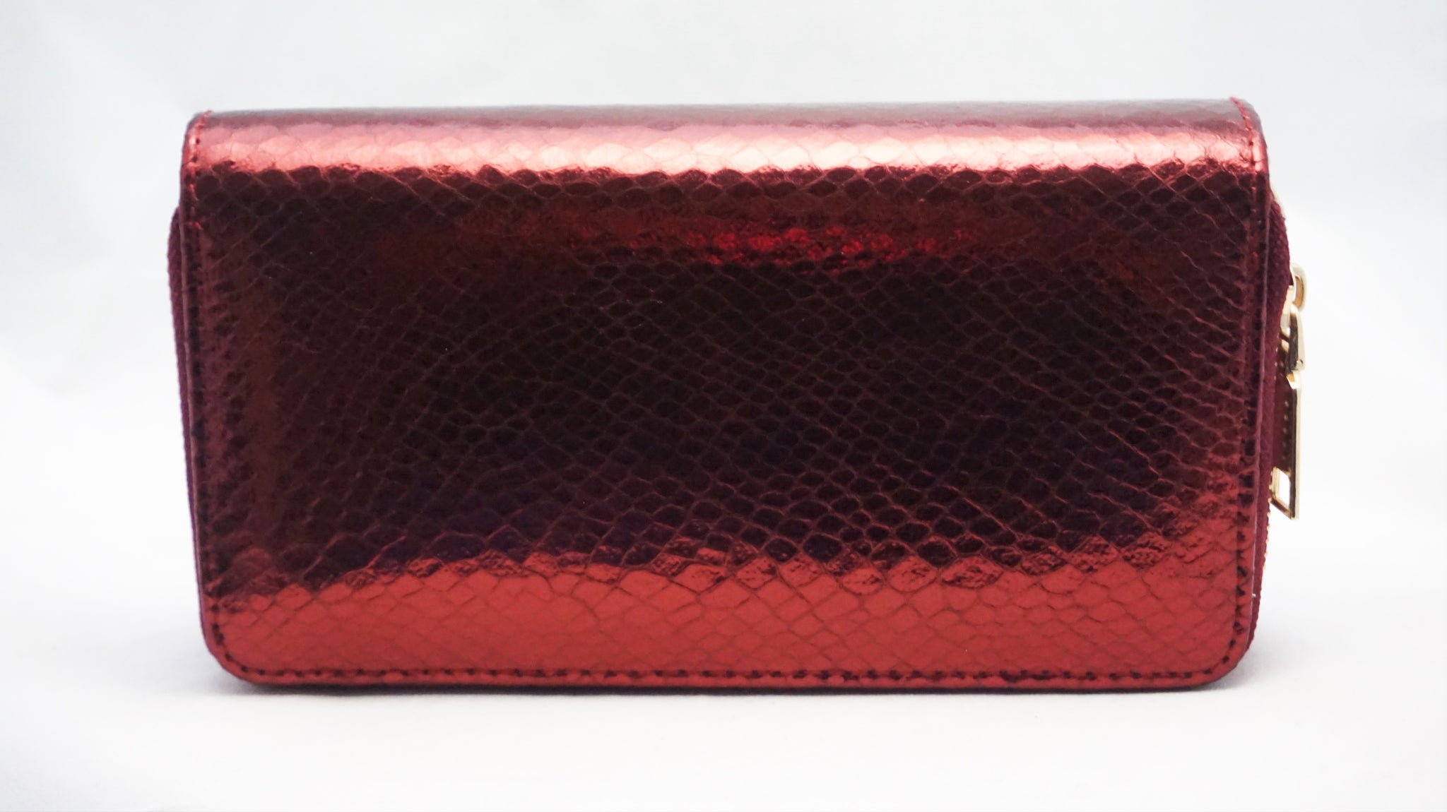 Double Zip Scaled Wallet / Red