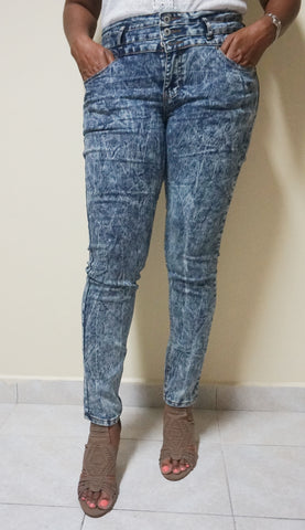 Blue Acid Jeans for Women