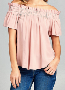 Off shoulder stylish top - Pink