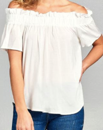 Off shoulder stylish top - White