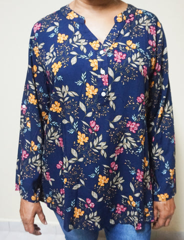 FLORAL TUNIQ I - TOP
