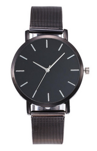 Black Mesh Watch