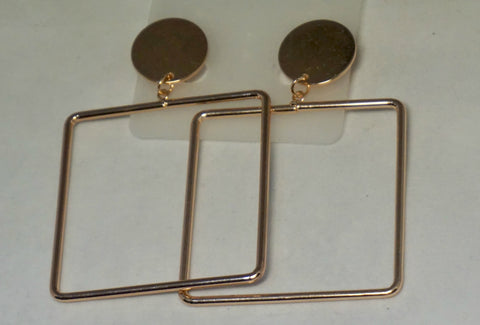 Square Rose Gold Earring
