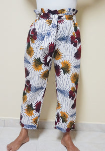 "NEW ""Floral"" Pattern Pants w/waist tie"