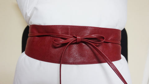 Tie Wrap Belt - Deep Red
