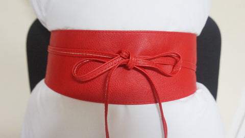 Tie Wrap Belt - Red