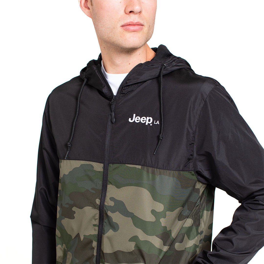 Colorblock Camo Windbreaker