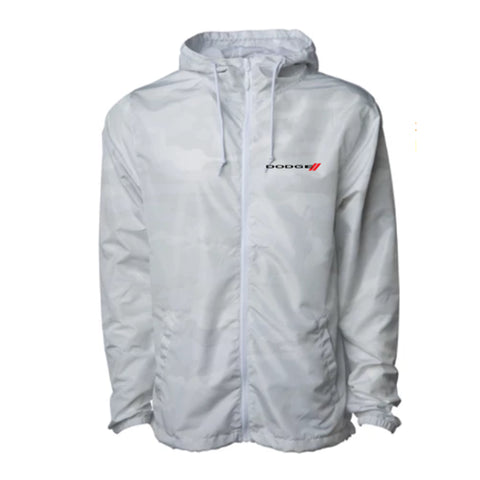 Dodge White Camo Windbreaker