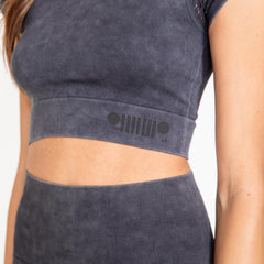 Mineral Wash Grey Crop Top