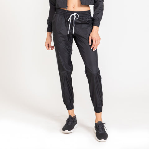 Stripped Black Joggers
