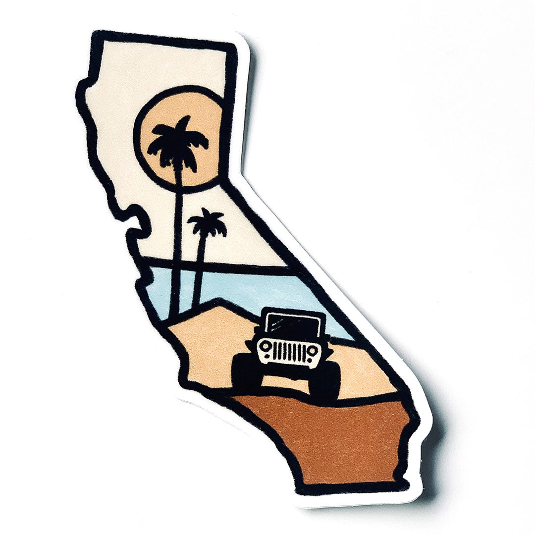 CA State Sticker