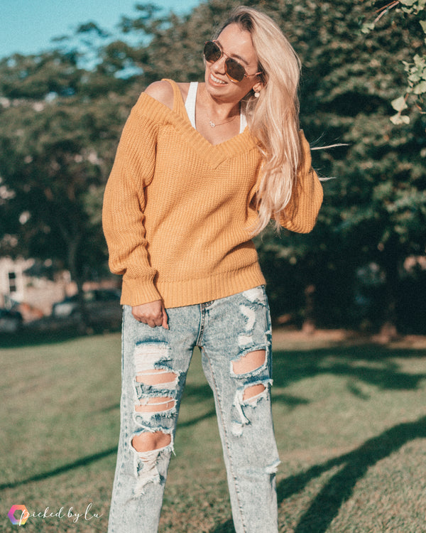 Dressed by Lu Cold Shoulder Sweater