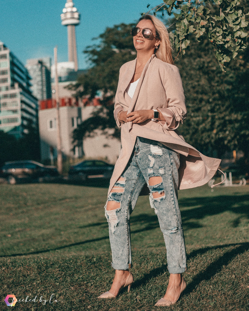 Ready for Fall Distressed jeans