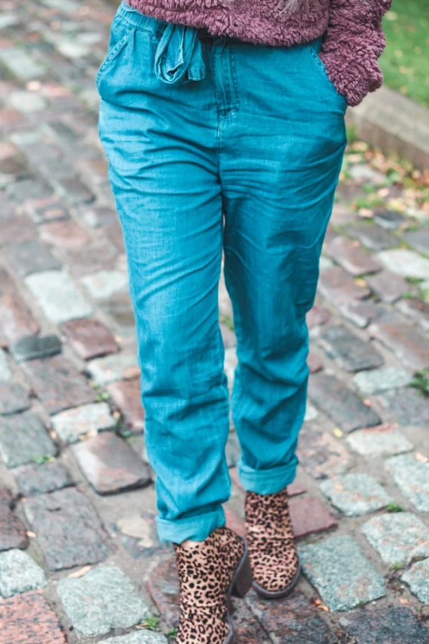 Comfort is everything | Chambray Denim Pants