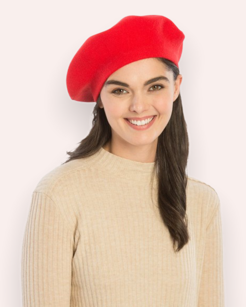 Classic Beret in Red