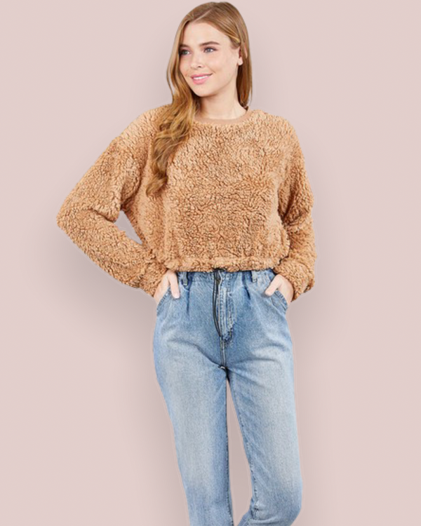 Teddy Sweater in Beige
