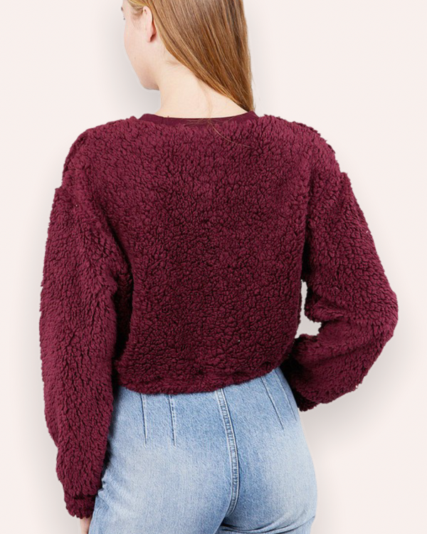 Teddy Sweater in Burgundy
