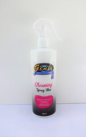 GENIE CAR CARE GLEAMING SPRAY WAX 500ML