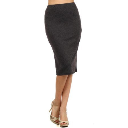 EVERYDAY PENCIL SKIRT - CHARCOAL