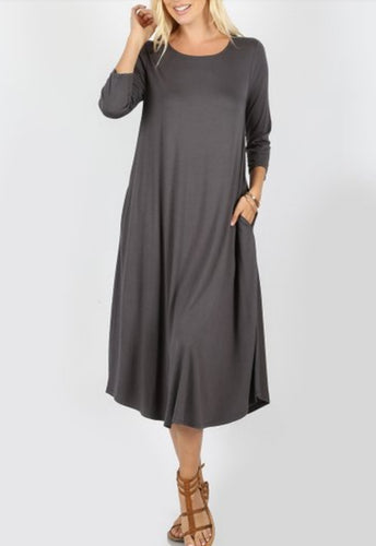 ASH GREY LAYERING DRESS