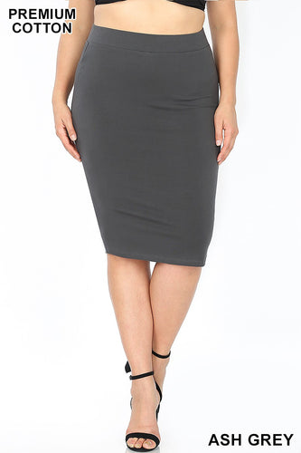PREMIUM COTTON PENCIL SKIRTS - MULTIPLE COLORS