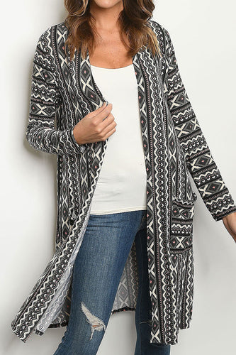 AZTEC CARDIGAN - REG & PLUS