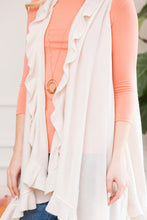 LIGHTWEIGHT RUFFLED SWEATER VEST - MULTIPLE COLORS