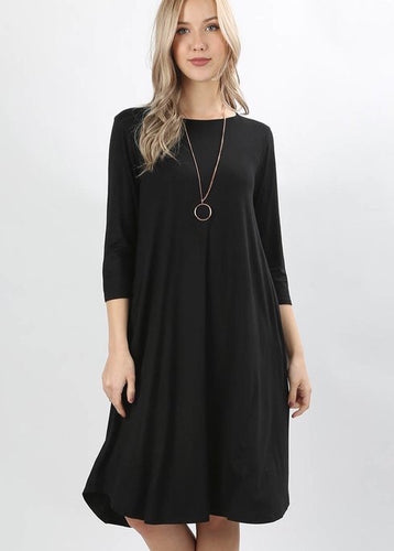 BLACK LAYERING DRESS