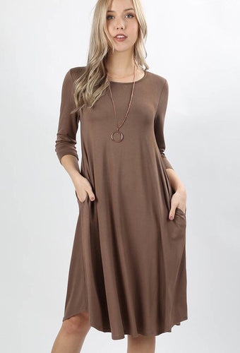 MOCHA LAYERING DRESS