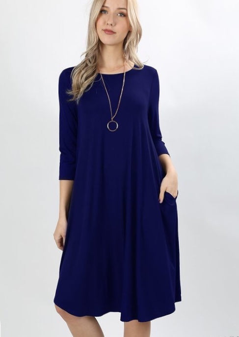 NAVY LAYERING DRESS