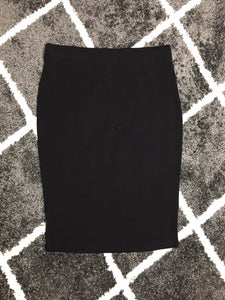 PREMIUM COTTON PENCIL SKIRT - BLACK