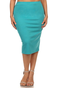 EVERYDAY PENCIL SKIRT - JADE
