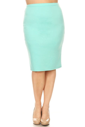 EVERYDAY PENCIL SKIRT - MINT
